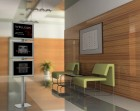 Interior of the corridor in office 3D rendering2